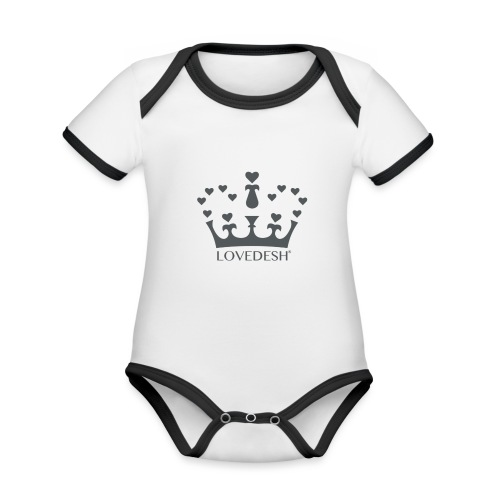 LD crown logo hearts png - Organic Baby Contrasting Bodysuit