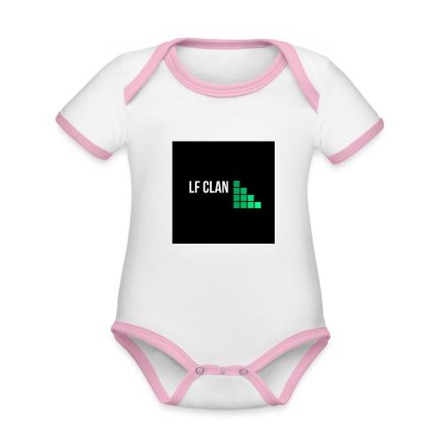 LF CLAN - Ekologisk kontrastfärgad kortärmad babybody