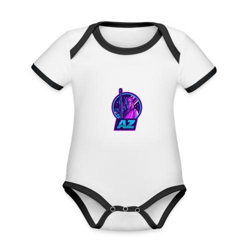 AZ GAMING LOGO - Organic Baby Contrasting Bodysuit