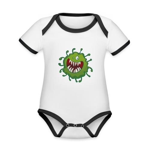 virus - Økologisk kortermet kontrast-babybody