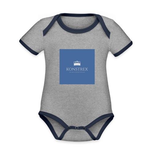 konstrex - Kortærmet økologisk babybody i kontrastfarver