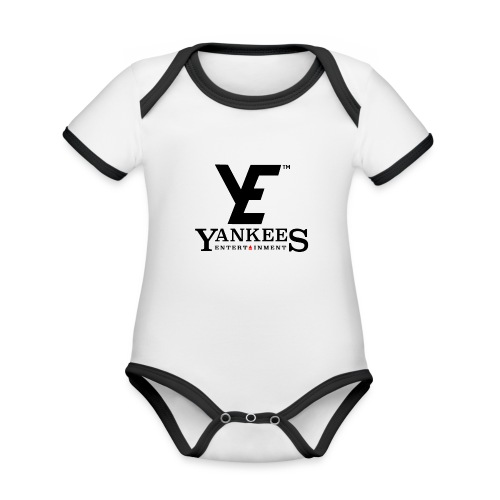 ye black - Organic Baby Contrasting Bodysuit