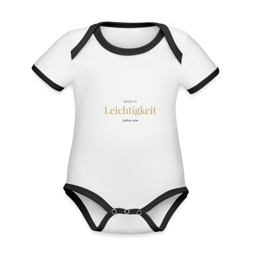 Liebliche Kollektion - Lebe in Leichtigkeit - Baby Bio-Kurzarm-Kontrastbody