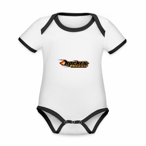 Raketen Chassis - Baby Bio-Kurzarm-Kontrastbody
