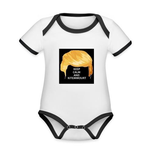 Keep Calm And Kitemmuort Capelli Trump - Body da neonato a manica corta, ecologico e in contrasto cromatico