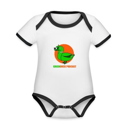 Greenduck Podcast Logo - Kortærmet økologisk babybody i kontrastfarver