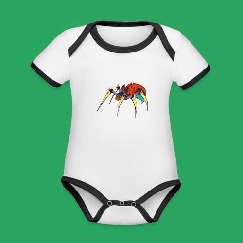 spider man frankenstein monster computer icons car - Body da neonato a manica corta, ecologico e in contrasto cromatico