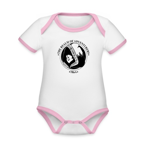 TRoA Logo Sort - Kortærmet økologisk babybody i kontrastfarver
