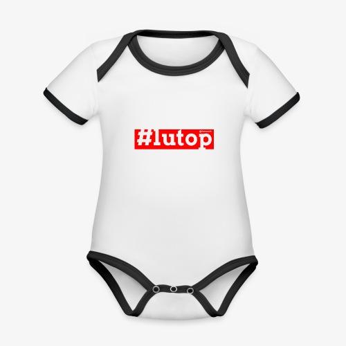 LuTop - Body da neonato a manica corta, ecologico e in contrasto cromatico