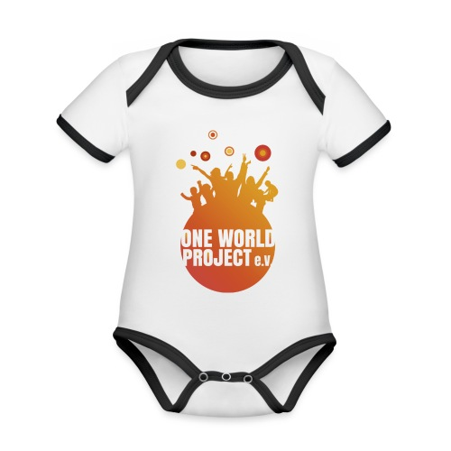 One World Project e. V. - Logo - Baby Bio-Kurzarm-Kontrastbody