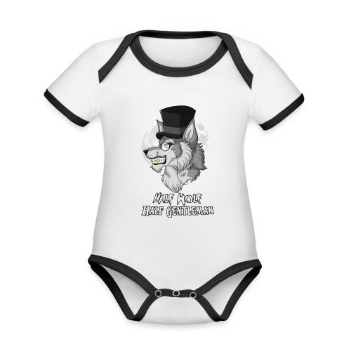 Half Wolf Half Gentleman - Organic Baby Contrasting Bodysuit