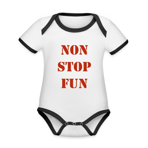 non stop fun - Baby Bio-Kurzarm-Kontrastbody