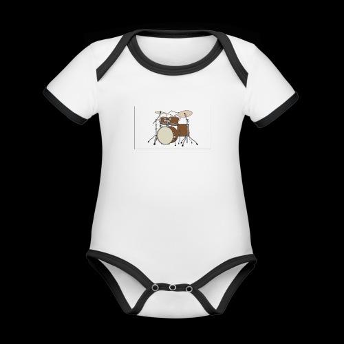 bongo cattttttttttt - Organic Baby Contrasting Bodysuit