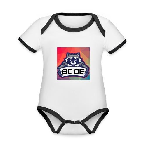 bcde_logo - Baby Bio-Kurzarm-Kontrastbody