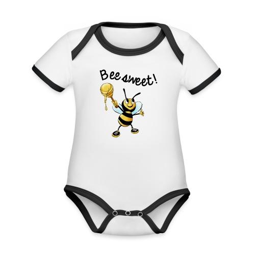Bees7-2 Bienen sind süß | save the bees - Organic Baby Contrasting Bodysuit