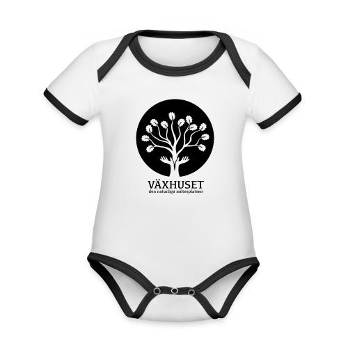 Växhuset - Ekologisk kontrastfärgad kortärmad babybody