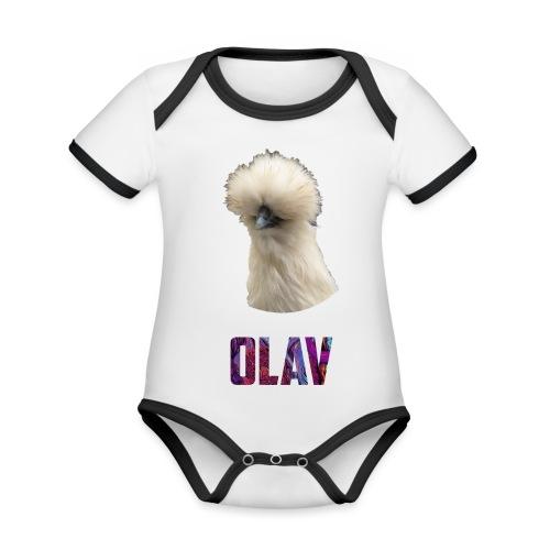 Olav 2 - Økologisk kortermet kontrast-babybody