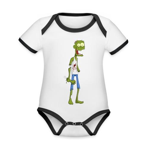 zombie - Body da neonato a manica corta, ecologico e in contrasto cromatico