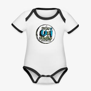 U & I Logo - Organic Baby Contrasting Bodysuit