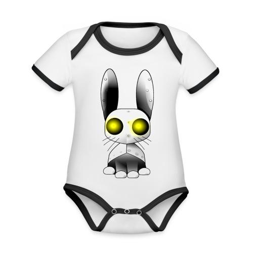 robotkanin med gula ögon - Organic Baby Contrasting Bodysuit