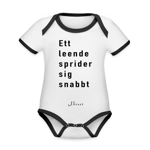 A smile spreads quickly - Organic Baby Contrasting Bodysuit