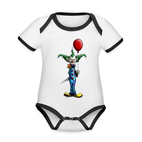 klaun tee - Ekologisk kontrastfärgad kortärmad babybody