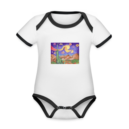 1 - Body contraste para bebé de tejido orgánico