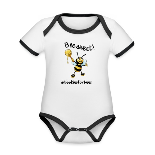 Bees7-1 Bienen sind süß | save the bees - Organic Baby Contrasting Bodysuit