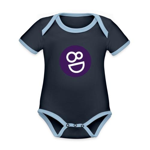 logo 8d - Baby contrasterend bio-rompertje met korte mouwen