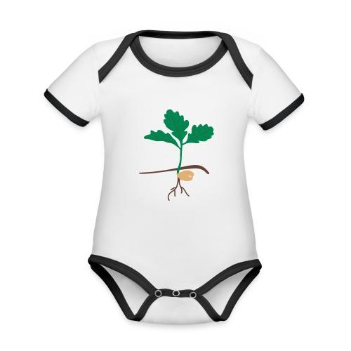 Eichensämling - Baby Bio-Kurzarm-Kontrastbody