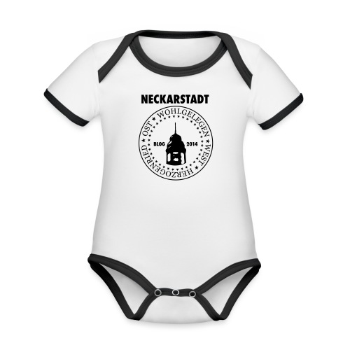 Neckarstadt Blog seit 2014 (Logo dunkel) - Baby Bio-Kurzarm-Kontrastbody