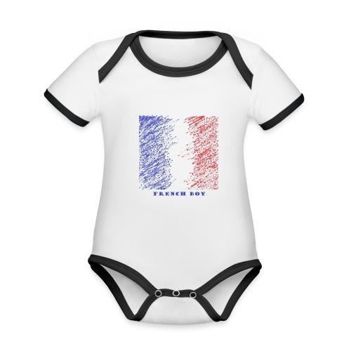 french - Body Bébé bio contrasté manches courtes