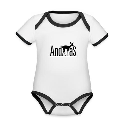 AndREHas - Baby Bio-Kurzarm-Kontrastbody