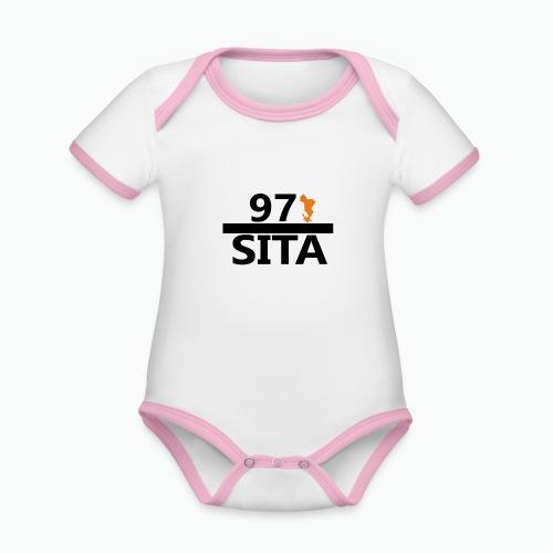Sweat manche longue 97-Sita - Body Bébé bio contrasté manches courtes