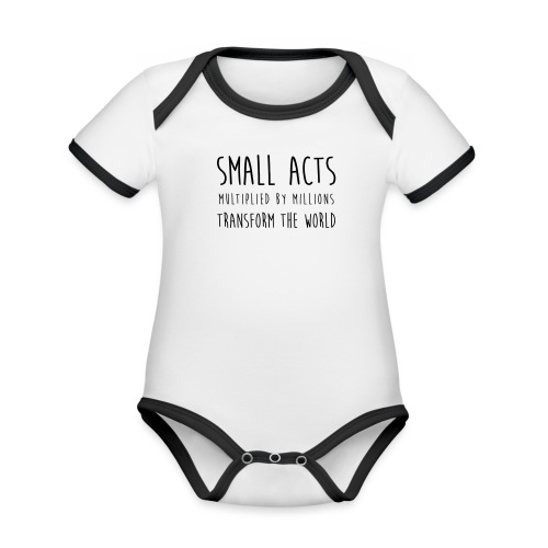 Small Acts - Baby contrasterend bio-rompertje met korte mouwen