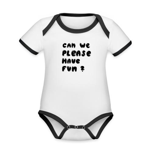 Luloveshandmade - Can we please have fun? (black) - Baby Bio-Kurzarm-Kontrastbody