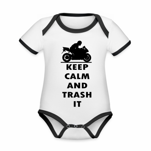 keep calm - Organic Baby Contrasting Bodysuit