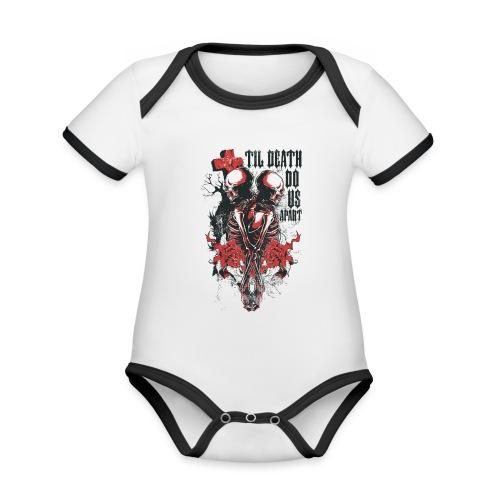 Til death do us apart - Body contraste para bebé de tejido orgánico