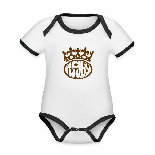 RTS2 png - Body da neonato a manica corta, ecologico e in contrasto cromatico