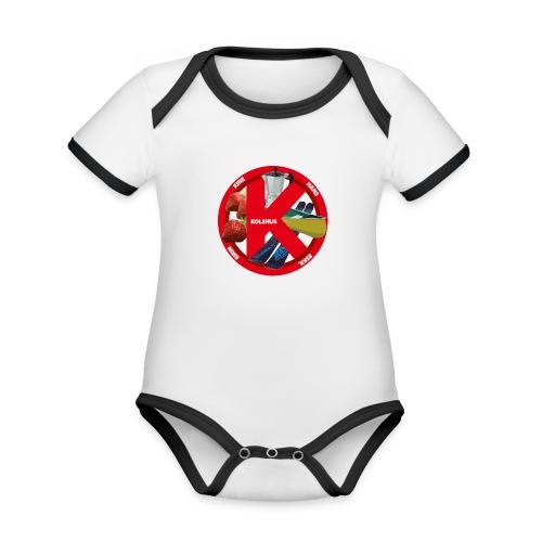 logoforeskil - Organic Baby Contrasting Bodysuit