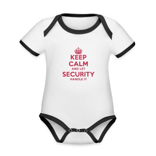 keep calm and let security handle it - Baby Bio-Kurzarm-Kontrastbody