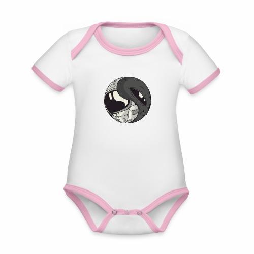 Yin Yang space Alien und Astronaut - Baby Bio-Kurzarm-Kontrastbody