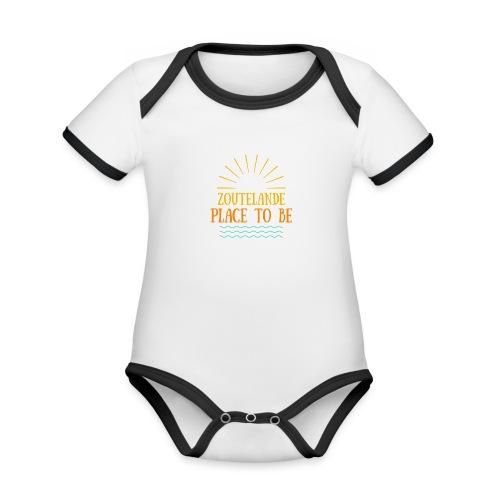 Zoutelande - Place To Be - Baby Bio-Kurzarm-Kontrastbody