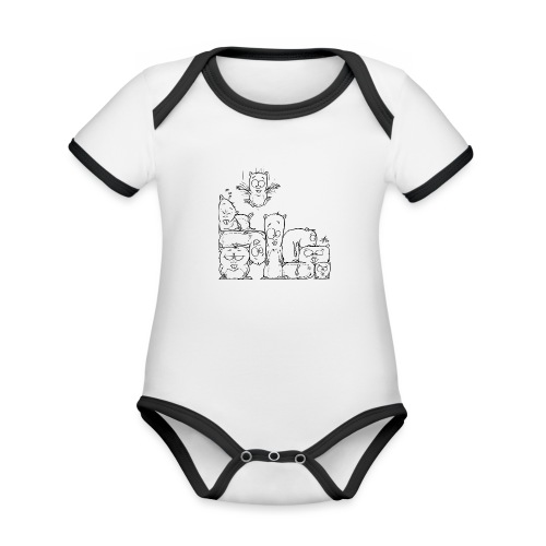 hamstris - Baby Bio-Kurzarm-Kontrastbody