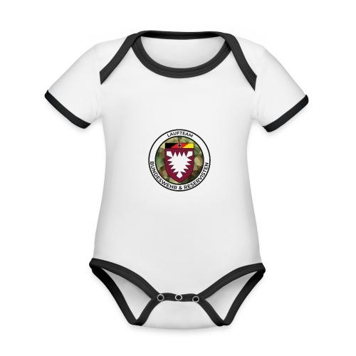 Logo des Laufteams - Baby Bio-Kurzarm-Kontrastbody