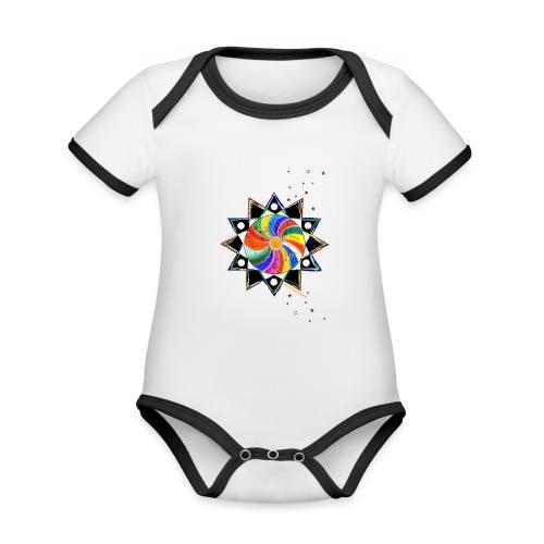 SternenZauber - Baby Bio-Kurzarm-Kontrastbody