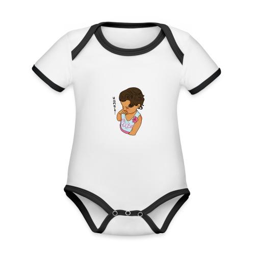 La Baby tiene hamabre - Body contraste para bebé de tejido orgánico
