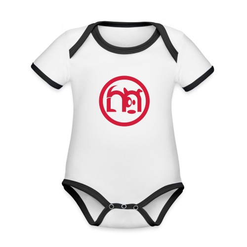 LOGO rond seul - Body Bébé bio contrasté manches courtes