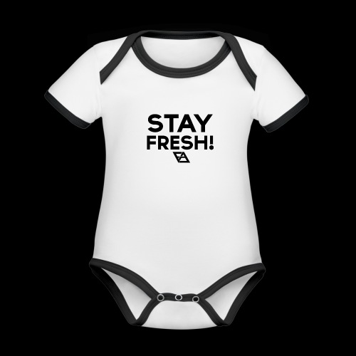STAY FRESH! T-paita - Vauvan kontrastivärinen, lyhythihainen luomu-body