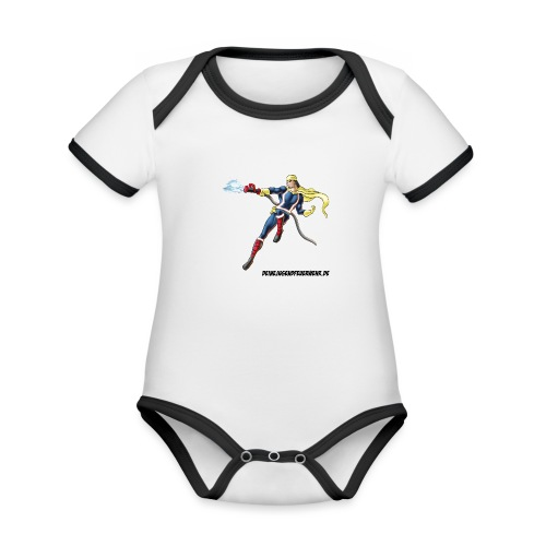 Captain Firefighter - Baby Bio-Kurzarm-Kontrastbody